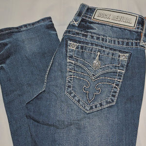 ROCK REVIVAL  AILEEN CUFFED STRAIGHT  SIZE 26